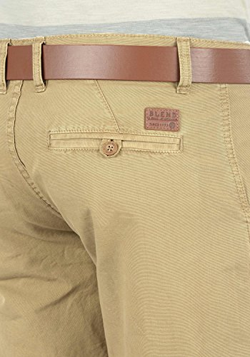 BLEND Clemens Herren Chino-Shorts kurze Hose Business-Shorts aus 100% Baumwolle Chalk Stone (70032)