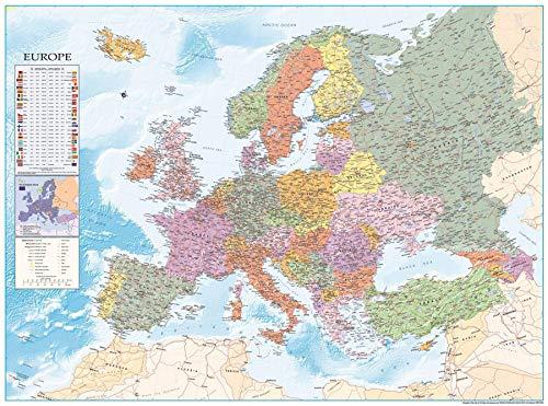 Close Up Europakarte XXL Poster Flaggen 135cm x 100cm