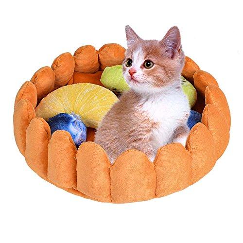 Urijk Hunde Katzen Nest Hundebett Obst Torte Form Katzenbett Haustier Kleintier Matte Bett Spielzeug