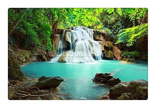 Fototapete Benutzerdefinierte Natürliche Landschaftstapete, Huay Mae Kamin Wasserfall, Thailand, 3D-Fototapete Für Wohnzimmer Schlafzimmer Sofa Wandtapete, 350Cmx245Cm (Kamin Wasserfall Und)