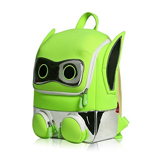 3D Cartoon Roboter Rucksack, Kinder Rucksack Mädchen Jungen, Schultasche und Lunch Bag, gutes Geschenk Geschenke für 4-10 Jahre alt Kinder - Walking-spielzeug-roboter