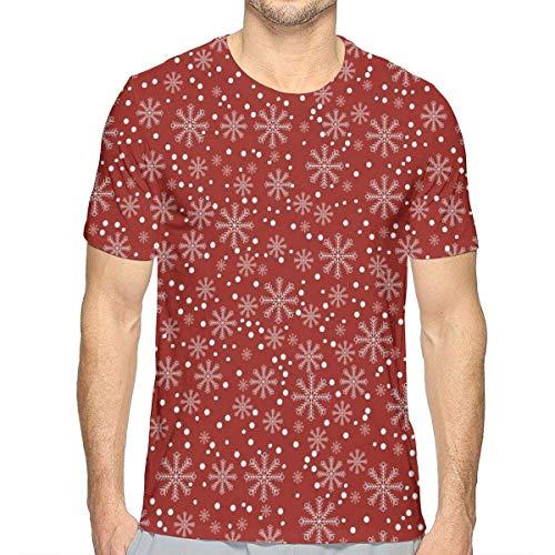 3D gedruckte T-Shirts, Festliche Winter-Jahreszeit-Feiertags-themenorientierte vibrierende Hintergrund-Schneeflocken mit Tupfen