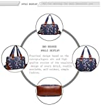 Miss Lulu Ladies Handbag Fashion Pattern Shoulder Tote Bags for Women Girls (1106-16J Navy)