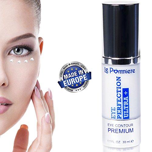 Augenkontur Creme 30ml Anti-Tränensäcke, dunkle Augenringe und Falten. Anti-Aging, um Linien und Krähenfüße zu mindern. Augencreme anti-Falten Vitamin E, Elastin für eine hydratisierte Haut
