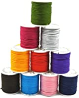 10 Rolls of Chinese Knotting Cord Nylon Shamballa Macrame Thread 1mm