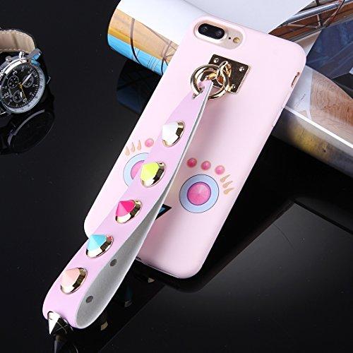 Für iPhone 7 Plus Orange quadratisch geformte Augenmuster Soft TPU Schutzhülle mit Niet Lanyard DEXING ( SKU : Ip7p1675b ) Ip7p1675h