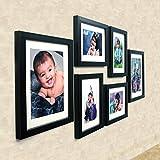 Ajanta Royal Set Of 6 Individual Photo Frames (4-6X8 And 2-8X10 Inch)-Black : A-89A