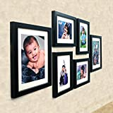 #6: Ajanta Royal Set Of 6 Individual Photo Frames (4-6X8 And 2-8X10 Inch)-Black : A-89A