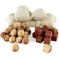 aszaro cedro Fresh palline e cedro Fresh cubetti 40pc combo pack | 20sfere di legno naturale, 20Cubi e 5Bonus bustine, per allontanare le tarme, muffa e mustiness capo facile da care