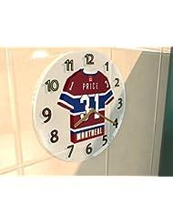 Liga Nacional de Hockey NHL–Oriental conferencia–Atlántico Division Jersey relojes de pared–cualquier nombre, cualquier número, cualquier equipo–personalización gratuita., mujer hombre Infantil, MONTREAL CANADIENS