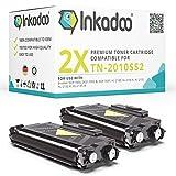 Inkadoo Toner kompatibel für Brother DCP-7055, DCP-7055w, DCP-7057, HL-2130, HL-2130r, HL-2132, HL-2132r, HL-2135w ersetzt TN2010 - Premium Drucker-Kartusche- Schwarz - 2 x 5.200 Seiten