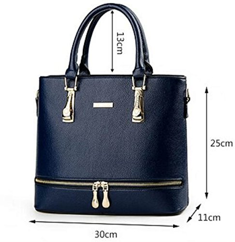 Weibliche Tasche Europa Und Die Vereinigten Staaten Elegant Einfach Handtasche Diamant Persönlichkeit Reißverschluss Messenger Umhängetasche RoseRed