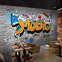 Nmw Art Murals - Mural de Papel Pintado con diseño de ladrillo en 3D, para Pared o Restaurante, decoración de Pared, Ver Imagen, 1 ㎡