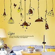 LILSN- Sala de estar creativa Dormitorio Corredor Antecedentes Decoraciones Etiquetas de pared Pegatinas pegajosas personalizadas