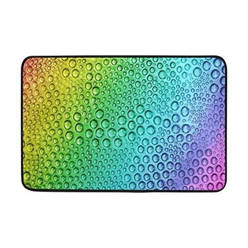 Sotyi-ltd Fußmatte Regenbogentropfen Luftpolster-Fußmatten für Wohnzimmer, Schlafzimmer, Küche, Innen und Außen, 59,9 x 39,9 cm, L x B