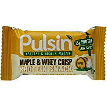 PULSIN Riegel Maple und Whey Crisp Protein Snack, 6er Pack (6 x 50 g)