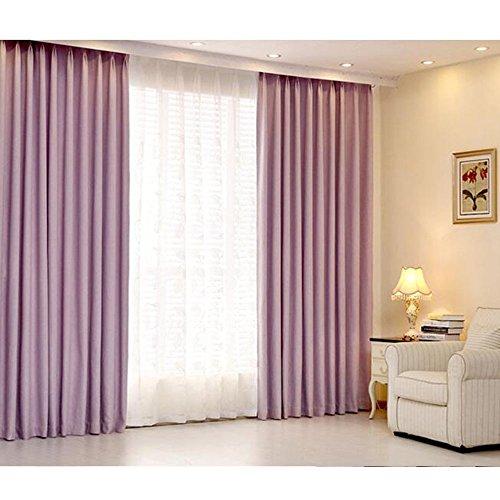 Anhpi oscurante tinta unita tende finestre dal pavimento al soffitto finestra a bifora finestre ottagonali camera da letto gancio tende,pink-3 * 2.7m