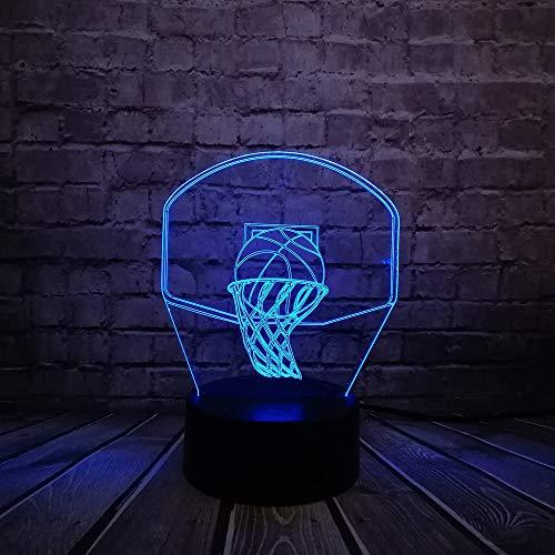 OSVD Basketball Sport Dunk Schießen Ein Korb 3D Lampe Nachtlicht Led Licht Multicolor Weihnachtsdekor Kinder Jungen Geschenk (Warenkorb-geschenk-korb)