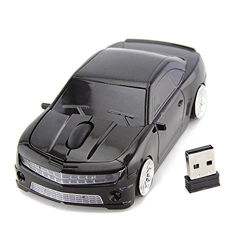 Spa-retail-box (spectronix Chevrolet Camaro geformte Kabelloser Sport Auto Maus Optische & Ergonomisches Design mit Nano-USB-Empfänger 10Meter Reichweite 2,4GHz Gaming Maus in Retail Box für Laptops und PCs 4leuchtende Farben)