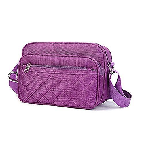 Meoaeo Die Neuen Multi-Function Bag, Große Kapazität, Einfache Schulter Obliquer Querschnitt, Multi Pocket Wasserdicht Mann, Kaffee Violet