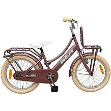 Volare Bicicleta Niña Excellent 18 Pulgadas Freno Delantero al Manillar y Trasero Contropedal Portabultos Rosa .