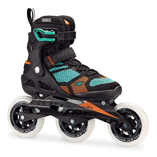 Rollerblade Macroblade 110 3wd W Inlineskates Damen, Damen, 07846600 824, Nero/Verde Chiaro, 35