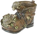 Deko Pflanztopf Blumentopf Motiv Schildkröten Schuh Übertopf