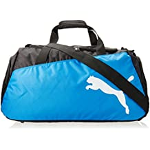 PUMA Sporttasche Pro Training Medium Bag - Bolsa de deporte, color negro/azul/blanco, talla 63 x 31 x 29 cm, 54 L
