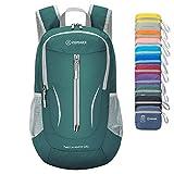 ZOMAKE Ultra Lightweight Packable Rucksack, 25L Klein Wasserfest Wandern Daypack Faltbarer Reiserucksack für Männer Frauen im Freien (Dunkelgrün)