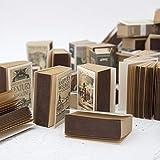Markcur Retro Mini Creative - Blocco di foglietti adesivi piccoli, 3 blocchetti, 360 fogli, 35 mm x 56 mm x 15 mm