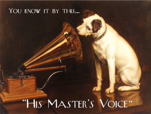 Metal Sign (Original Metal Sign Co The Vintage Blechschild His Masters Voice)