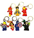 Lego Movie Seven Piece Keychain / Party Bag / Favour / Keyring / Bag Charms