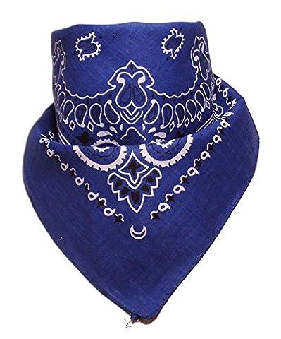 Bandana with original Paisley pattern in royal blue