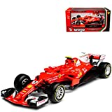 alles-meine GmbH Ferrari SF70H Kimi Räikkönen Nr 7 Formel 1 2017 1/43 Bburago Modell Auto