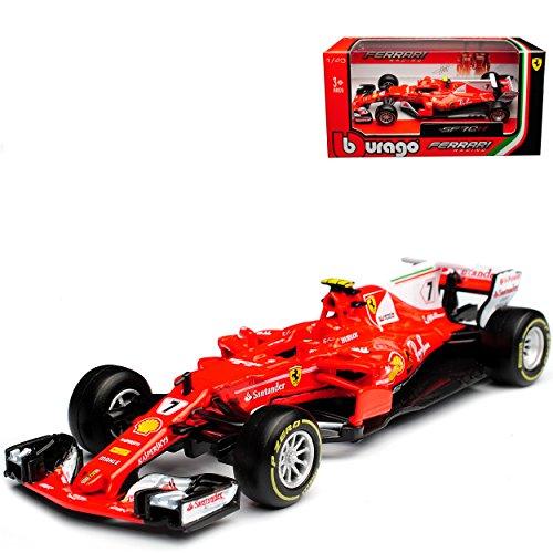 Ferrari SF70H Kimi Räikkönen Nr 7 Formel 1 2017 1/43 Bburago Modell Auto