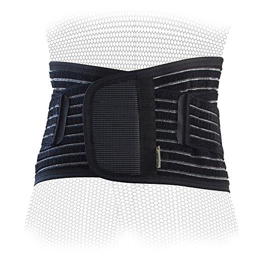 PhysioRoom Elite Rückenstütze Rückenbandage - Atmungsaktiv & Leicht bei Bandscheibenvorfall, Hexenschuss & Rückenschmerzen - Ideal im Sport & während des Alltags - Optimale Stützkraft dank 3D Multi-Filament Konstruktion - Für Mann & Frau - RH023-BSM