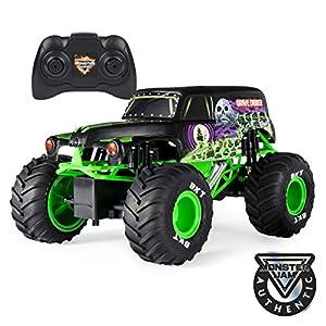 Monster Jam 1:15 RC - Gravedigger Monster truck Motor eléctrico - Vehículos de tierra por radio control (RC) (Monster truck, Motor eléctrico, 1:15, Ready-To-Drive (RTD), Verde, De plástico)