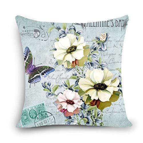 MAYUAN520 Zierkissen Euro Style Floral Home Deco Kissen Blume Drucken Home Dekorative Throwkissen 18, Wie Gezeigt, 45 X 45 cm -