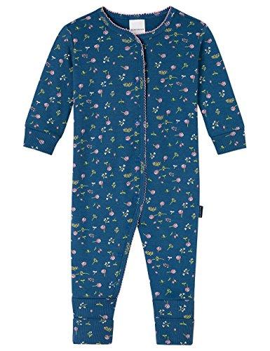 hen Zweiteiliger Schlafanzug Anzug mit Vario Fuß, Blau (Dunkelblau 803), 86 (Herstellergröße: 086) (Nachtwäsche Für Mädchen)