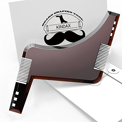 KINDAX Peine Barba Plantilla Guía Afeitado Barba