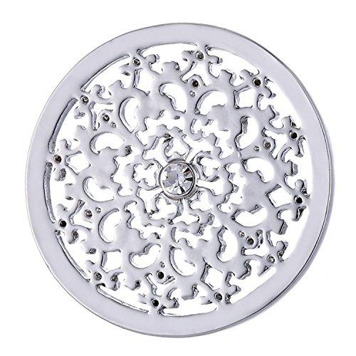 Morella Damen Coin 33 mm Natur Ornament silber