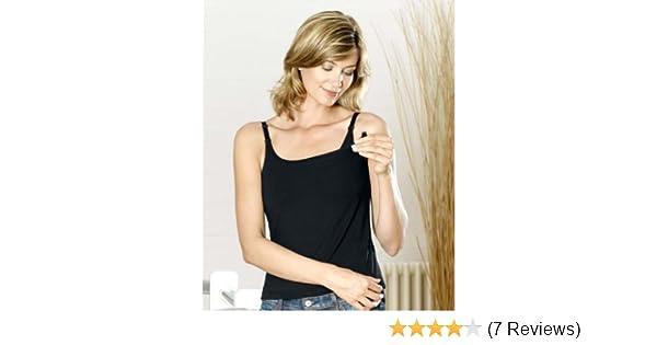 82bcb7c9e034a9 Nursing Breastfeeding Vest Top Size 10 12 Black  Amazon.co.uk  Baby
