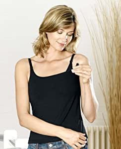 Nursing Breastfeeding Vest Top Size 10/12 Black
