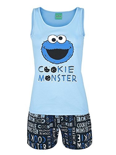 Sesame Street Cookie Monster pigiama azzurro/nero blu / nero M