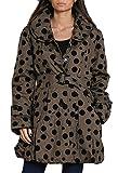 Damen Jacke Übergangsmantel Trench Coat Kurzmantel Halbmantel Ballon optik, Farbe:Schwarz, Größe:M