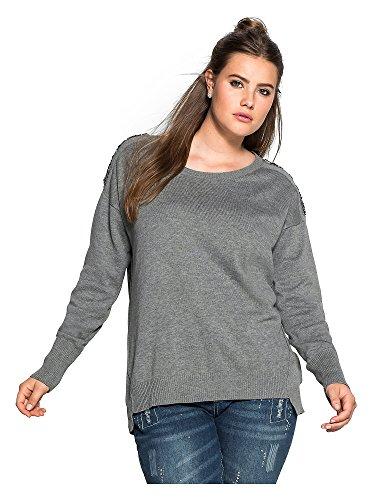 sheego Trend Donne Pullover taglie grandi Grigio