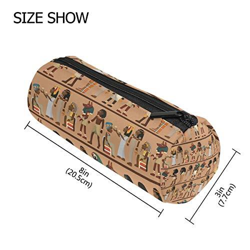 TIZORAX ägyptische Totem Federmäppchen mit Reißverschluss, für Münzen, Make-up, Kostüm-Tasche für Damen, Teenager, Mädchen, Jungen, Kinder (Jungen ägyptischen Kostüm)