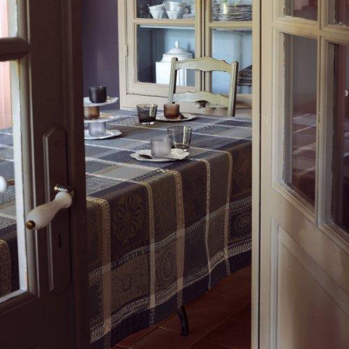 Garnier Thiebaut Nappe, Coton, Cendre, 180x180 cm