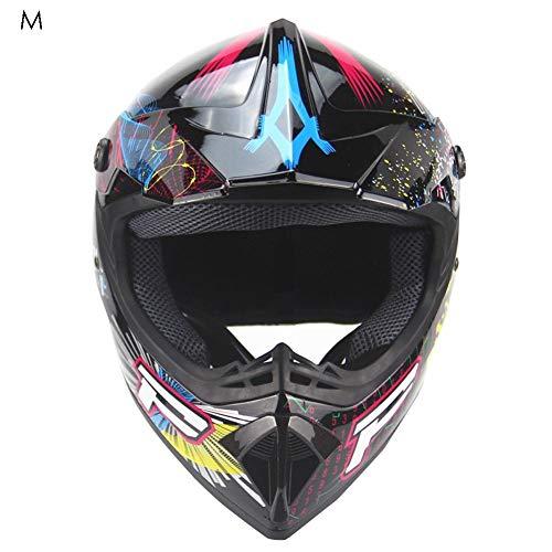 Casco da Motocross per Fuori-Strada - caschi da Corsa da Strada per Casco Integrale da Corsa Four Seasons Cross-Country