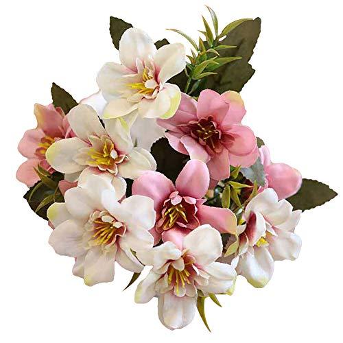 Danigrefinb 1 Blumenstrauß Schöne künstliche Kunststoffblume Fake Pflanze Veilchen Hyazinthe Stoff Blume Home Office Shop Decor